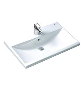 Lavabo Chậu rửa dương vành Inax L-2397V -Bồn rửa mặt hình chữ nhật giá rẻ