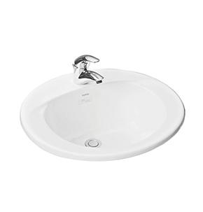 Chậu rửa tay lavabo Toto L501C dương vành bàn đá