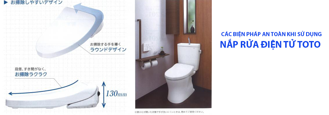 Các biện pháp an toàn khi sử dụng nắp rửa điện tử TOTO