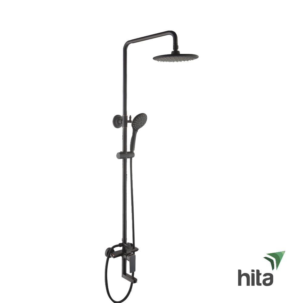 Sen cây tắm đứng LUXTA L7228Black màu đen sang trọng tại showroom Hita
