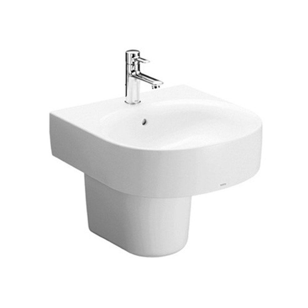 Chậu rửa lavabo TOTO chân lửng LHT766CR kích thước 510x520mm