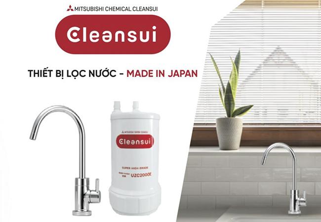 Thiết bị lọc nước dưới bồn rửa Mitsubishi Cleansui