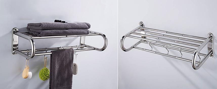 Cách bố trí giá treo khăn trong nhà tắm đẹp, gọn, ngăn nắp