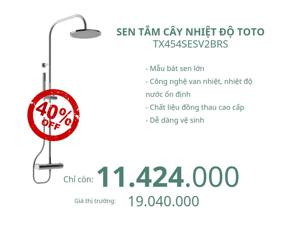 Sen tắm cây nhiệt độ Toto TX454SESV2BRS giảm 40%