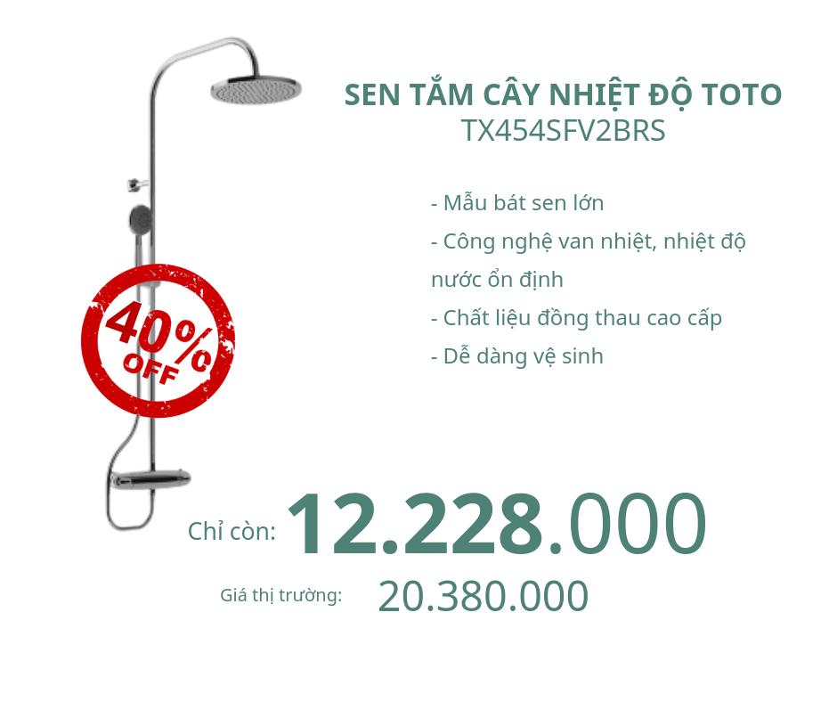 Sen tắm cây nhiệt độ Toto TX454SFV2BRS giảm 40%