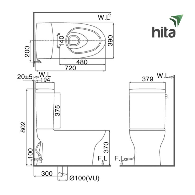 Thông số và đặc điểm bồn cầu Inax AC-927VN