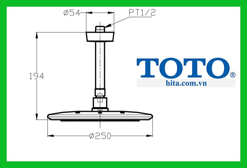 Bát sen gắn trần Toto TX491SLZ