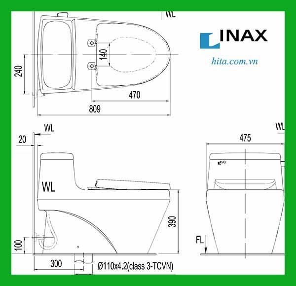 Bồn cầu 1 khối Inax AC-1135VN