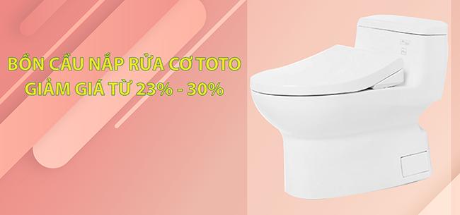 Bồn cầu nắp rửa cơ Eco-washer TOTOchiết khấu 23% - 30%: