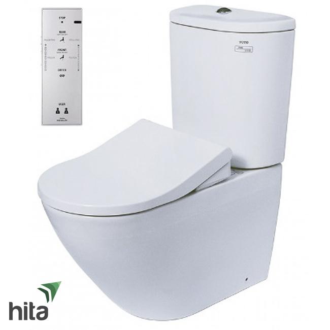 Bồn cầu nắp rửa điện tử TOTO CS761PDW5 - Washlet thông minh sưởi ấm