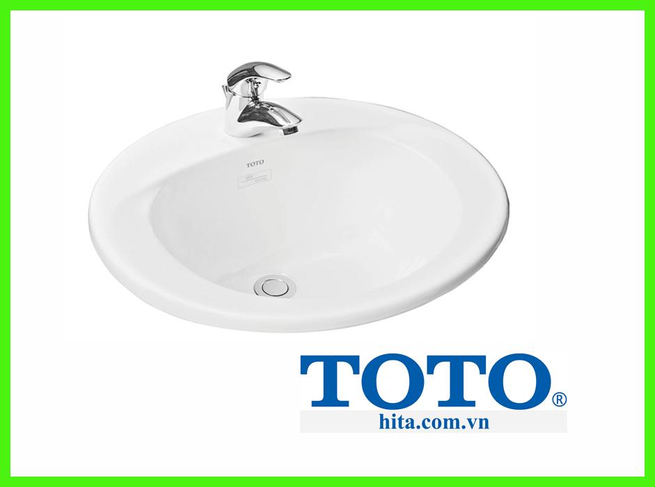 Chậu rửa lavabo dương vành Toto L501C