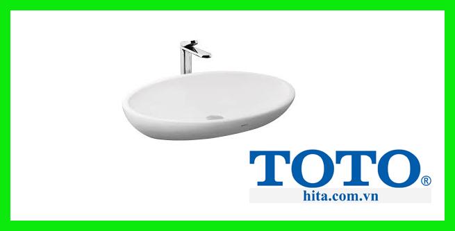 Chậu rửa mặt lavabo đặt bàn Toto LW818JW/F