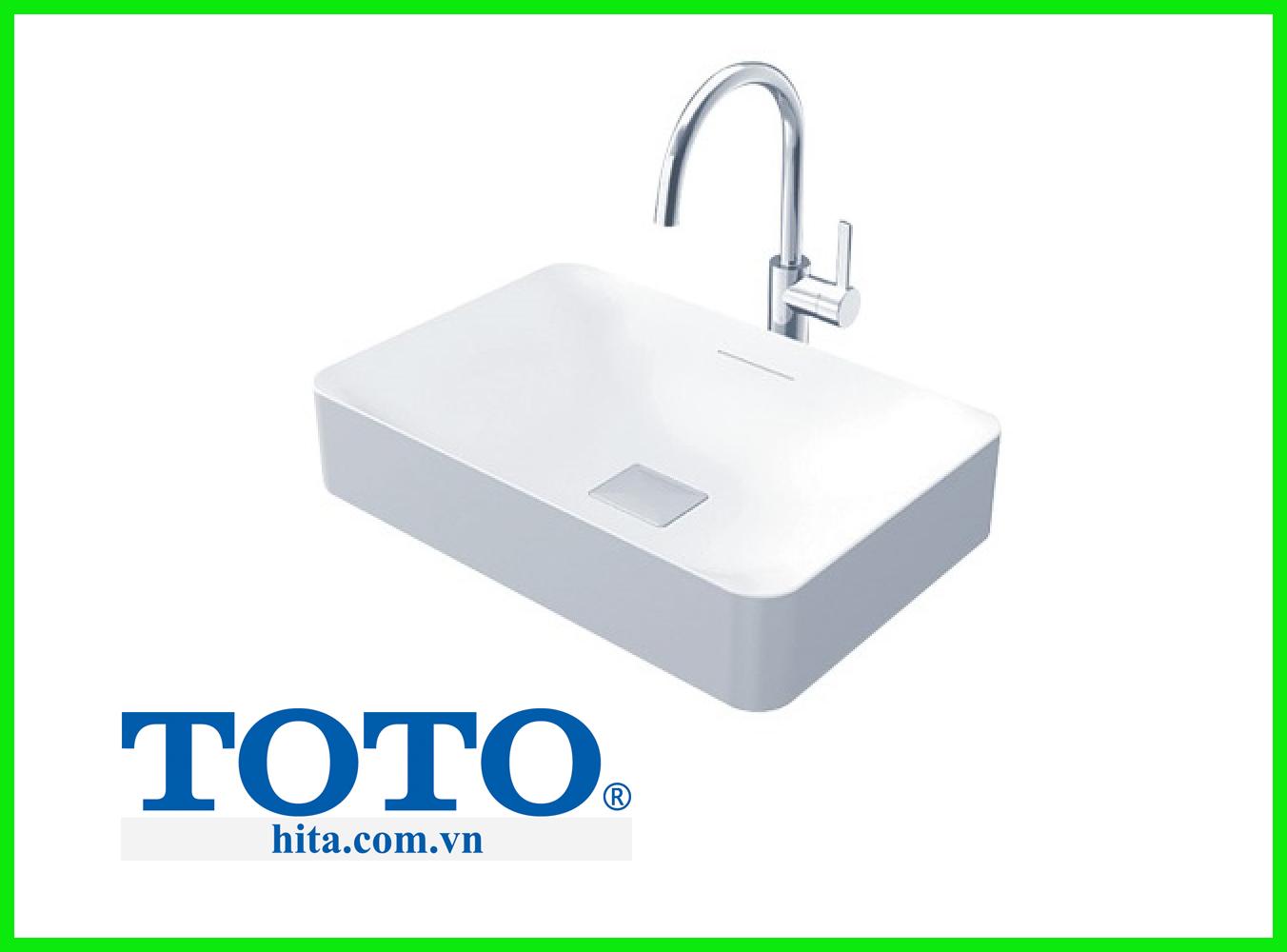 Chậu rửa mặt lavabo đặt bàn Toto PJS03WE#MW