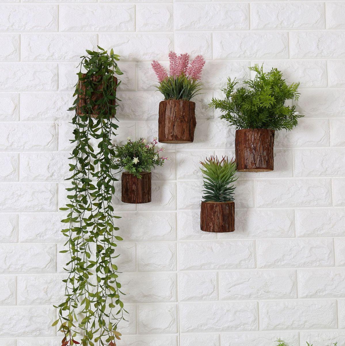 Kệ để cây bonsai treo tường bằng gỗ