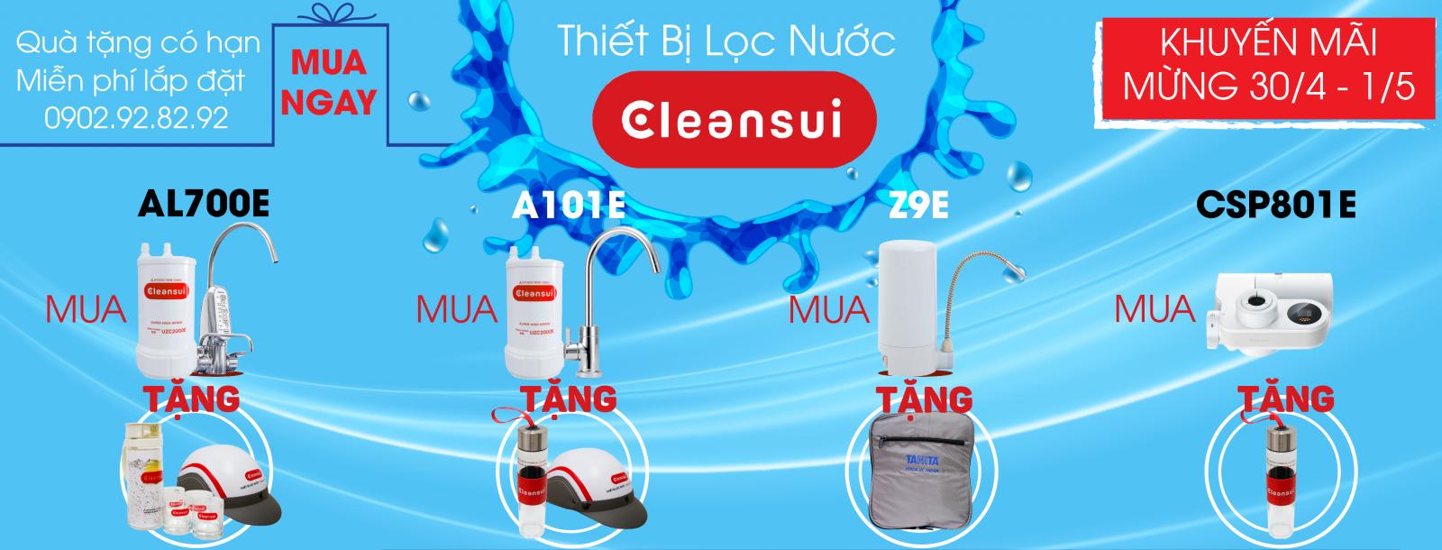 Chương trình khuyến mãi thiết bị lọc nước Mitsubishi Cleansui 2019