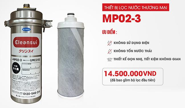 Thiết bị máy lọc nước Mitsubishi Cleansui MP02-3 công nghiệp