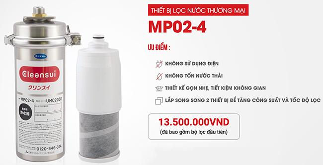 thiết bị máy lọc nước Mitsubishi Cleansui MP02-4 công nghiệp công suất lớn