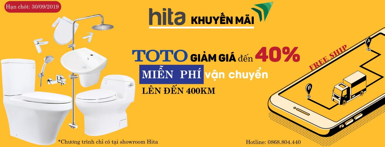 Khuyến mãi TOTO miễn phí vận chuyển Hita.