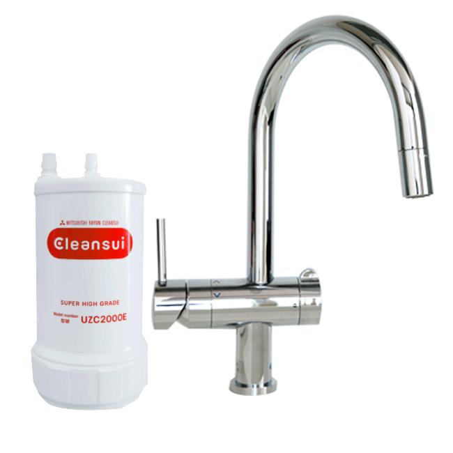Thiết bị máy lọc nước dưới bồn rửa Mitsubishi Cleansui EU201 (mã cũ F914ZC) lắp trong tủ bếp để ngầm