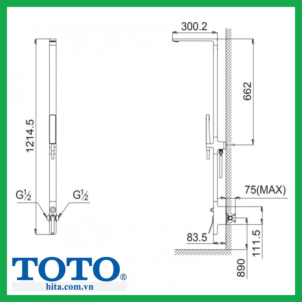 Sen tắm cây Toto DM912CAF
