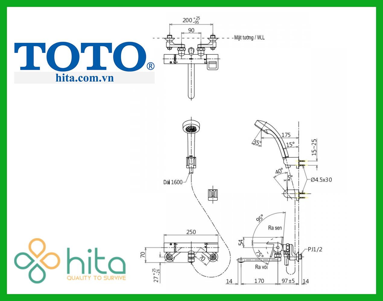 Sen tắm Nhật Toto TMGG40E3