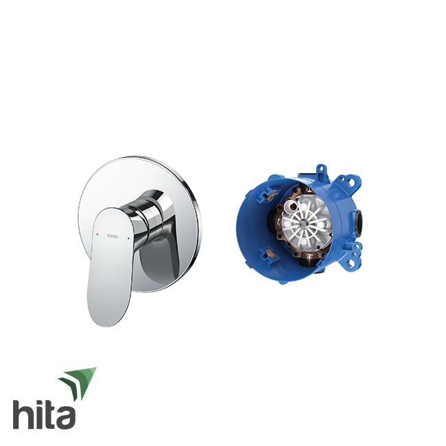 Van điều chỉnh nóng lạnh TOTO TBG01303B/TBN01001B gật dù gắn tường kèm phụ kiện âm tường.