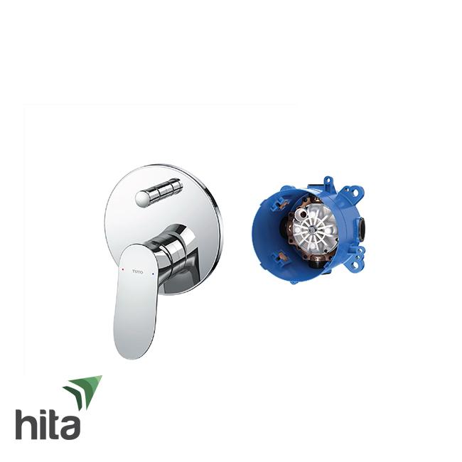 Van điều chỉnh nóng lạnh TOTO TBG01304B/TBN01001B gật gù kèm nút chuyển hướng