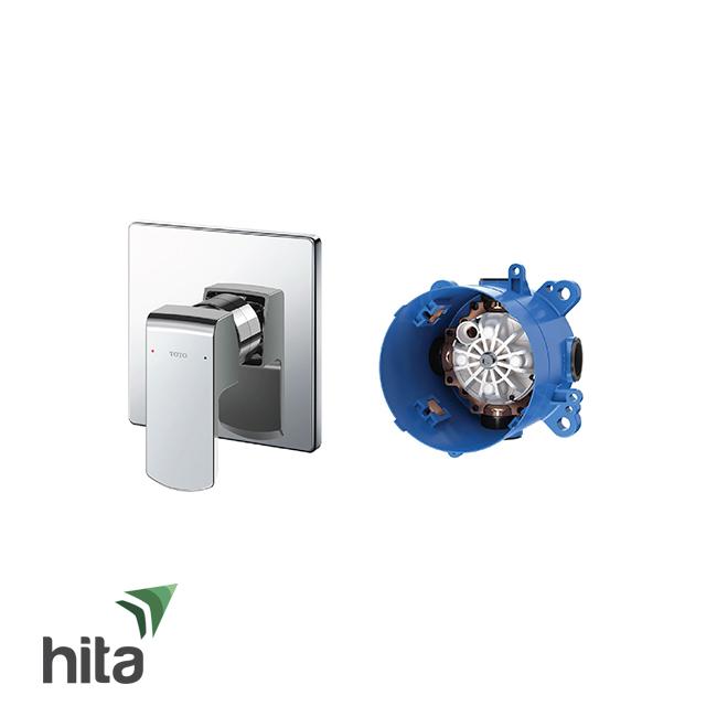 Van điều chỉnh nóng lạnh TOTO TBG02303B/TBN01001B gật gù kèm phụ kiện âm tường