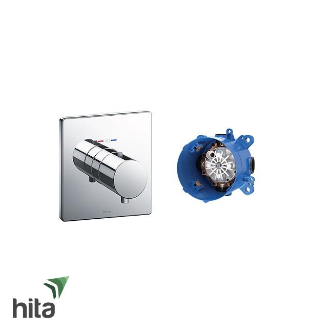 Van điều chỉnh nhiệt độ TOTO TBV02401B/TBN01001B kèm phụ kiện âm tường