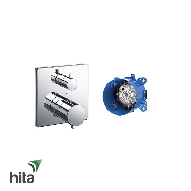 Van điều chỉnh nhiệt độ TOTO TBV02403B/TBN01001B kèm van dừng và phụ kiện âm tường