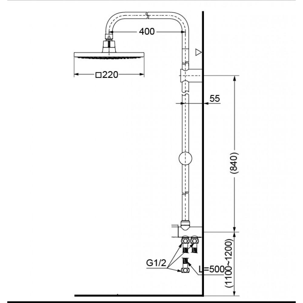 Thông số kĩ thuật bộ sen cây TOTO