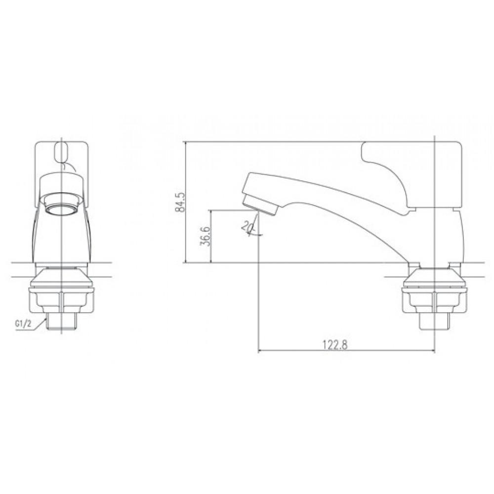Thông số kĩ thuật vòi chậu rửa chén lavabo INAX LFV-13BP