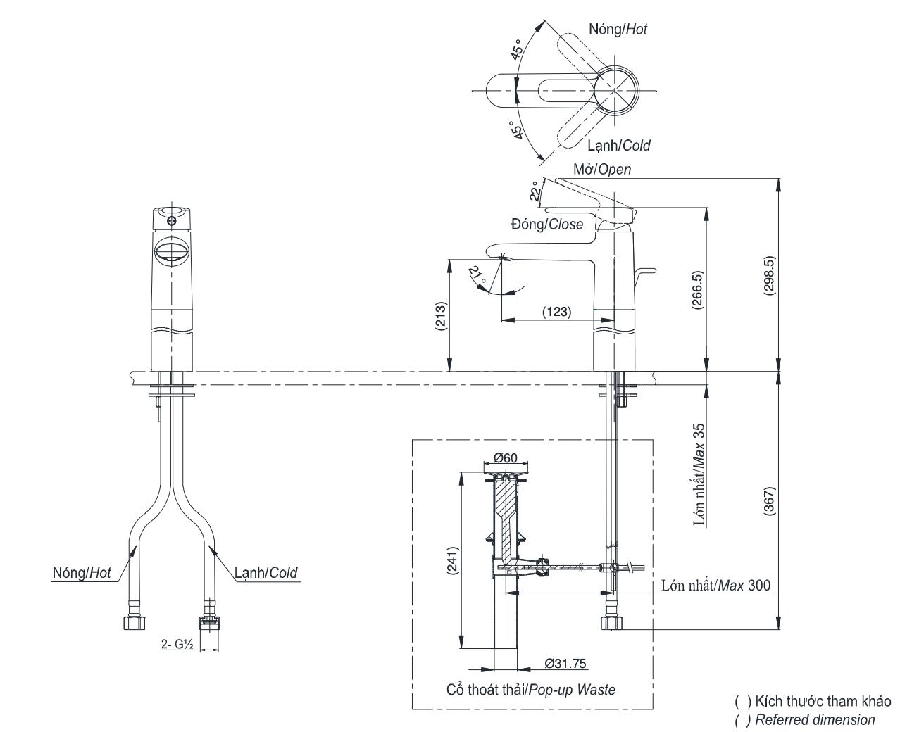 bản vẽ kỹ thuật TOTOTVLM112NS