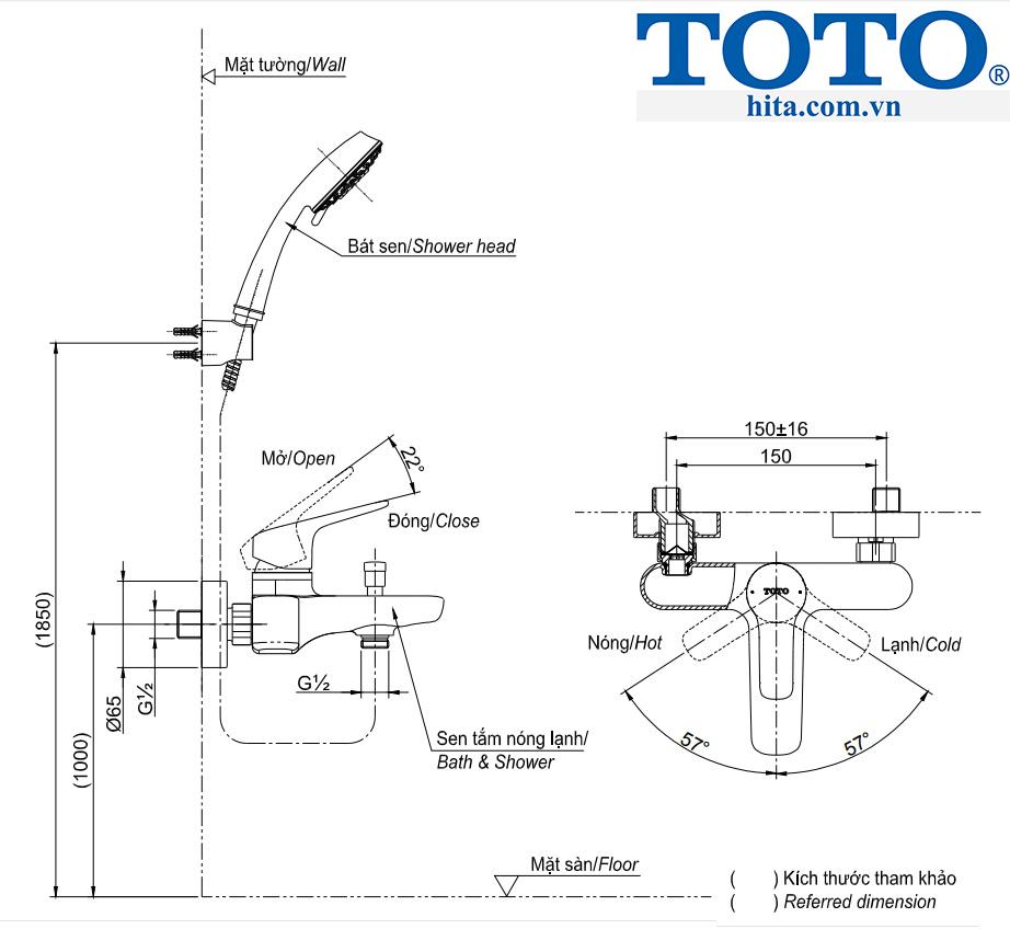 Toto TBG03302V TBW01008A