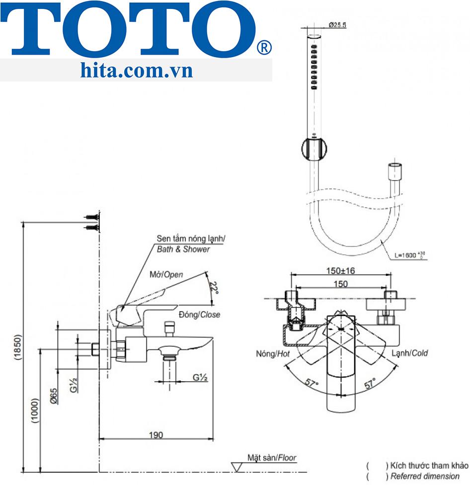Toto TBG03302V TBW02017A