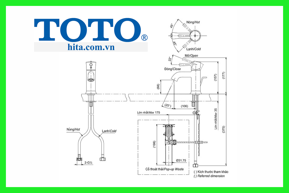 Vòi chậu Toto TLS02301V