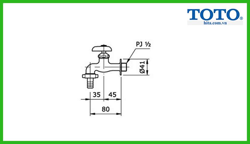 Vòi hồ Toto T26-13