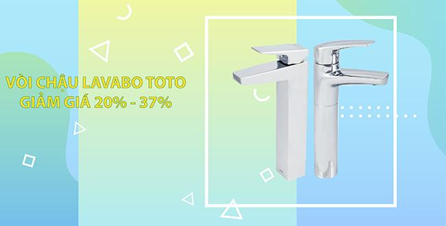 Vòi chậu lavabo TOTO nóng lạnh chính hãng chiết khấu từ 20 - 37%