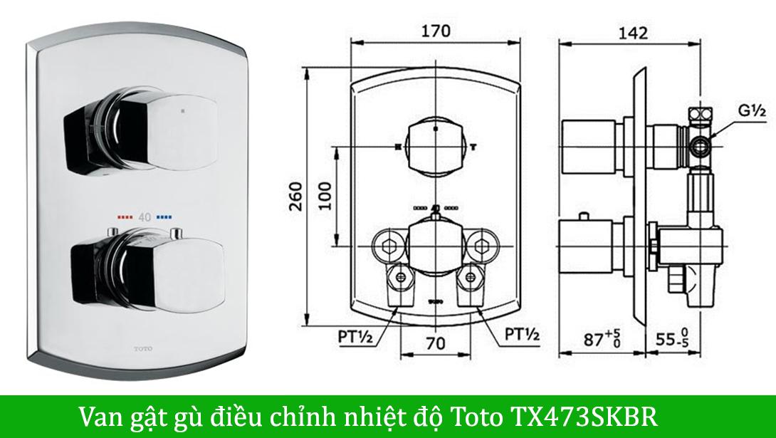 Van gật gù điều chỉnh nhiệt độ Toto TX473SKBR