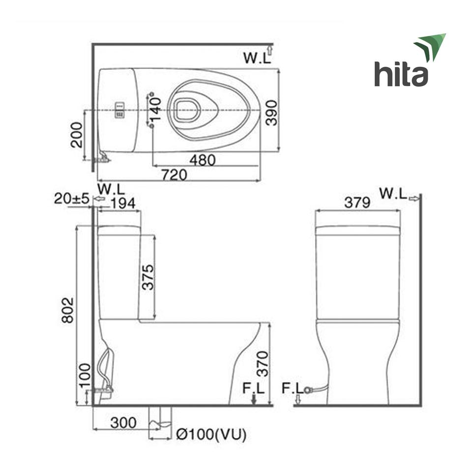 Thông số và đặc điểm bồn cầu Inax AC-907VN