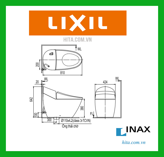bồn cầu inax AC-2700VN