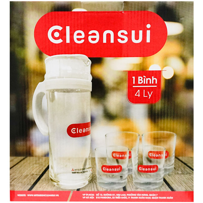 Bộ bình ly nước Cleansui