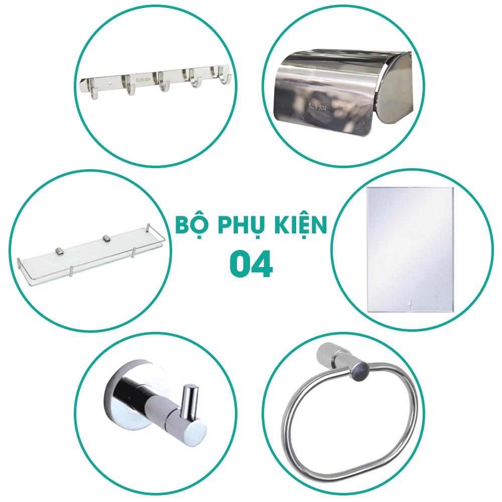 Bộ phụ kiện phòng tắm 6 món BPK004 giá rẻ khuyến mãi