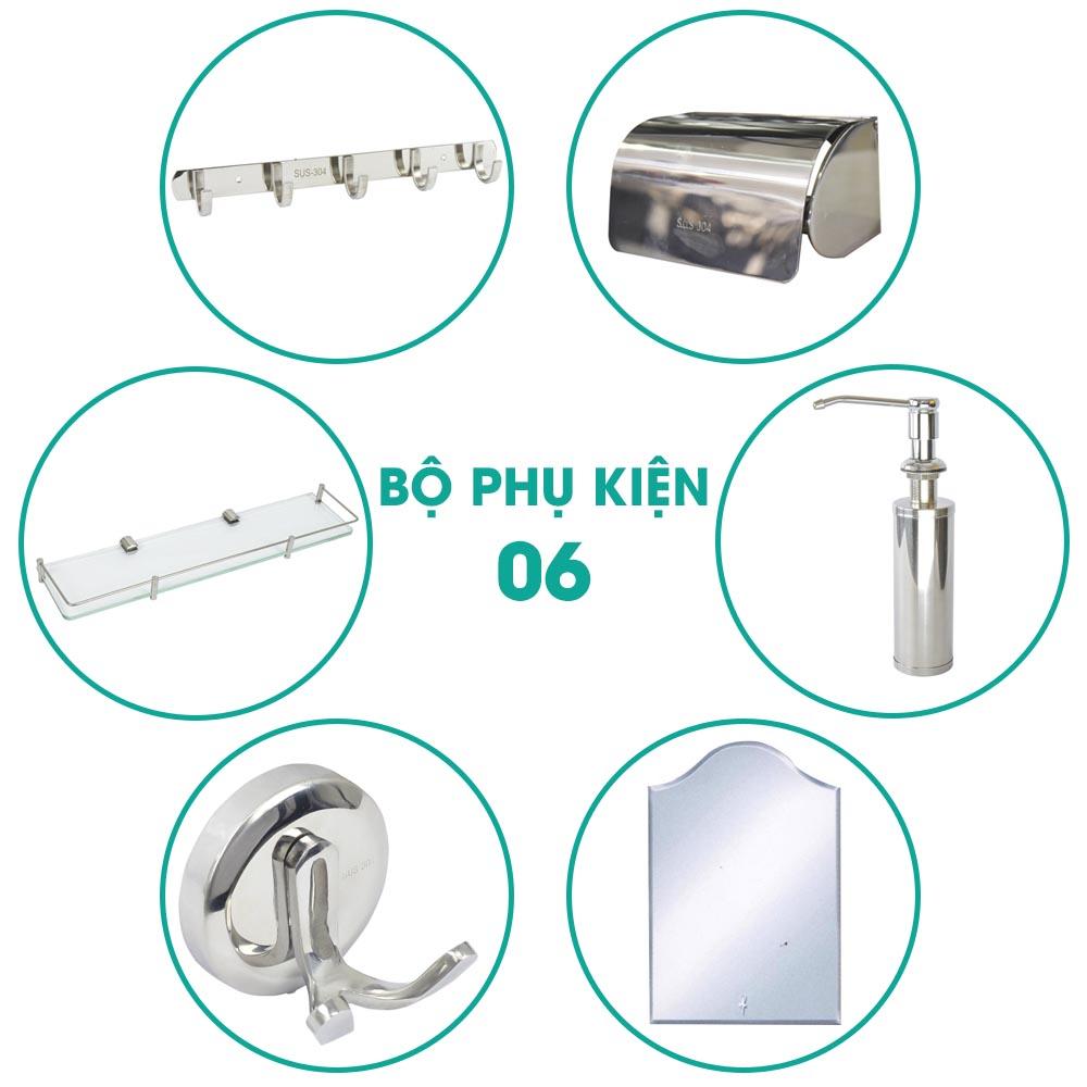 Bộ phụ kiện phòng tắm 6 món BPK006 khuyến mãi hấp dẫn nhất gồm nhiều mẫu sản phẩm