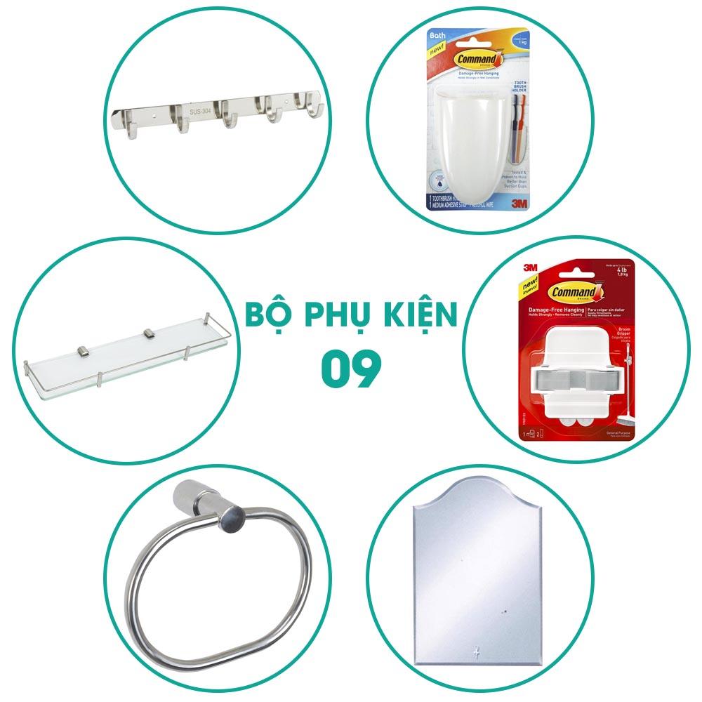 Bộ phụ kiện phòng tắm 6 món BPK009 giá tốt cho sửa chữa nhà