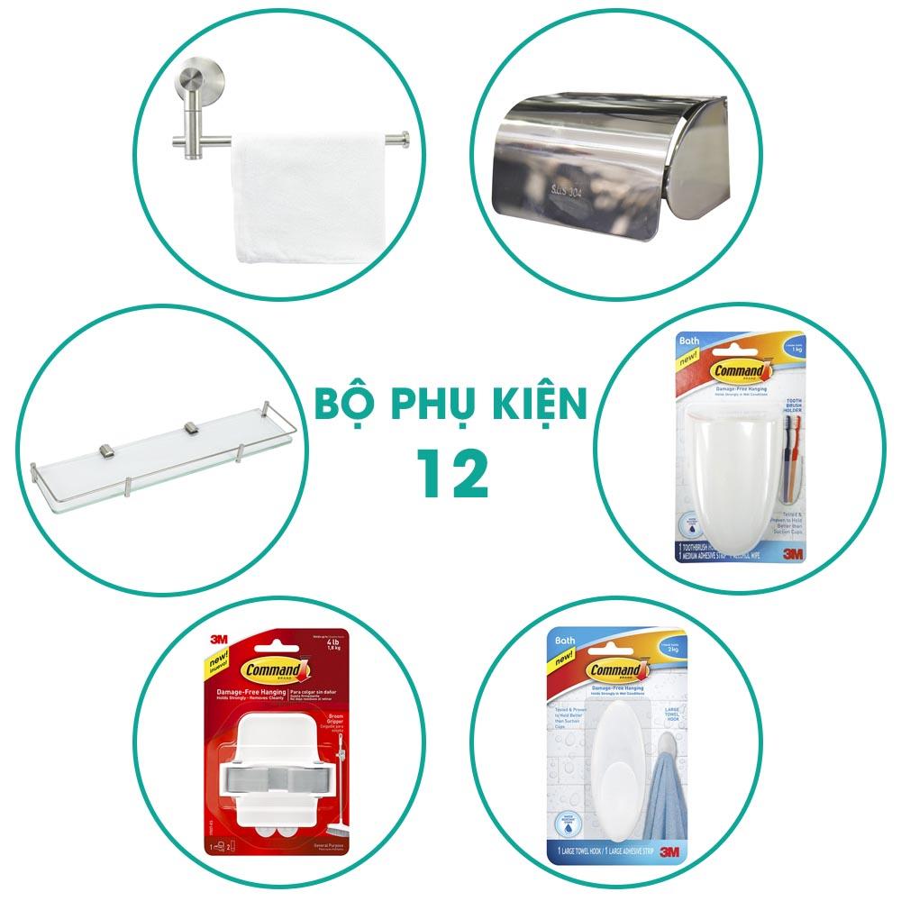Bộ phụ kiện phòng tắm 6 món BPK012 chiết khấu cao t