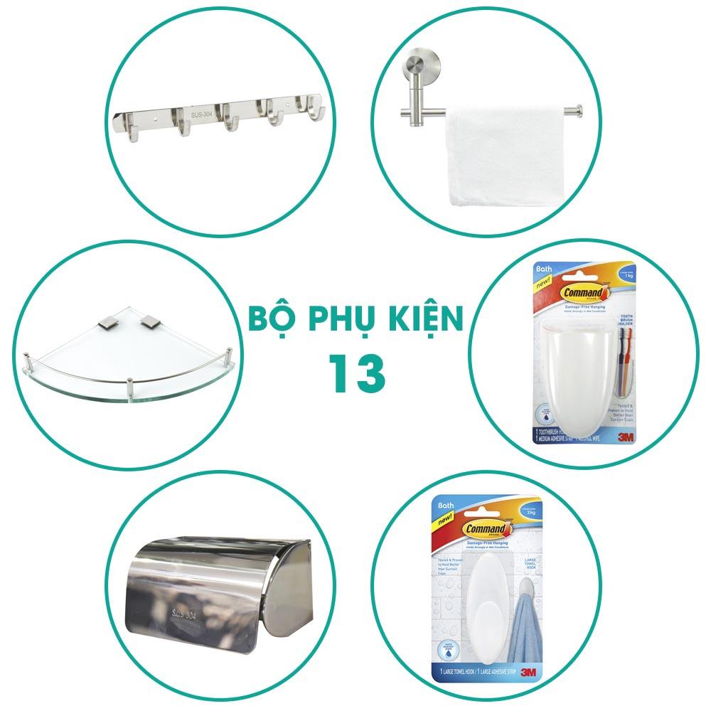 Bộ phụ kiện phòng tắm 6 món BPK013