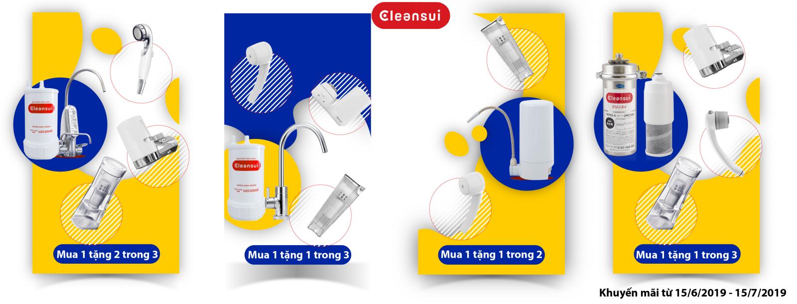 Thiết bị lọc nước Mitsubishi Cleansui 2019 Tphcm khuyến mãi hè