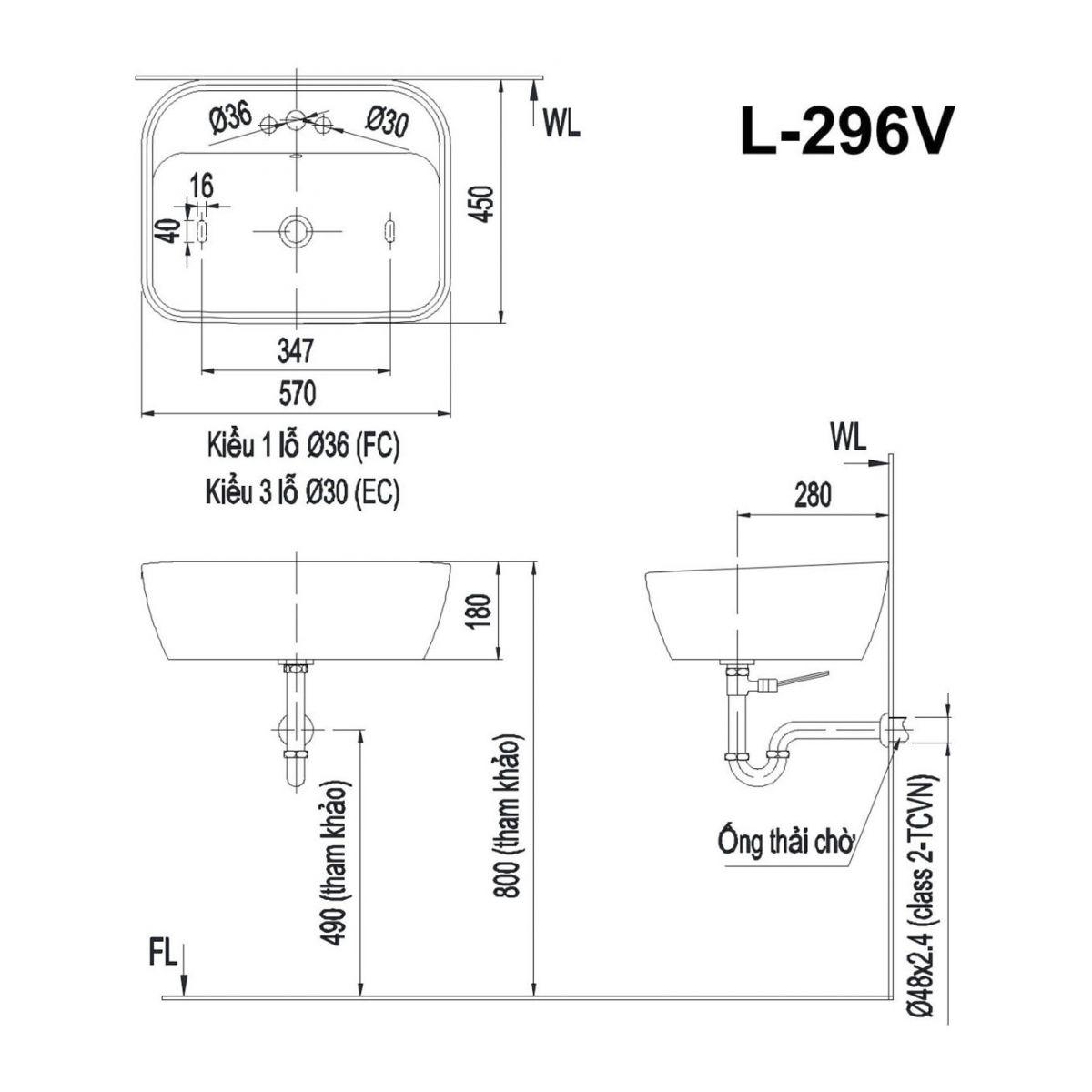 Lavabo INAXGL-296V ứng dụng công nghệ Proguard