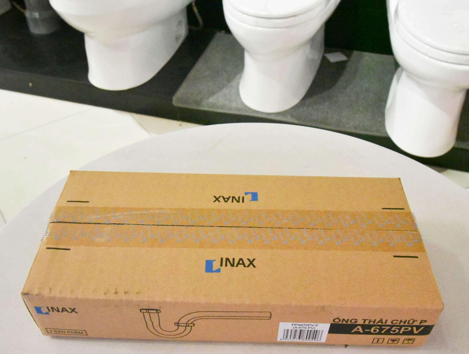 Băng keo Inax thật có in logo, Cách phân biệt thiết bị vệ sinh Inax thật giả, cách nhận biết bồn cầu inax chính hãng